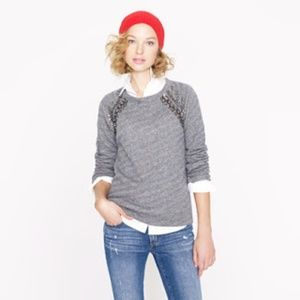 J Crew Embellished Collection Raglan Sweater